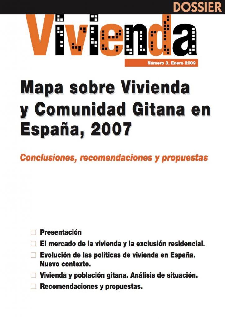 Mapa sobre vivienda y comunidad gitana en España