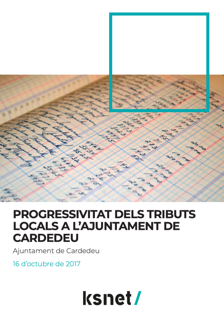 Progresividad de los tributos locales del Ayuntamiento de Cardedeu