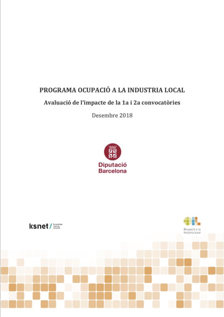 Evaluación del Programa de Ocupación a la Industria Local
