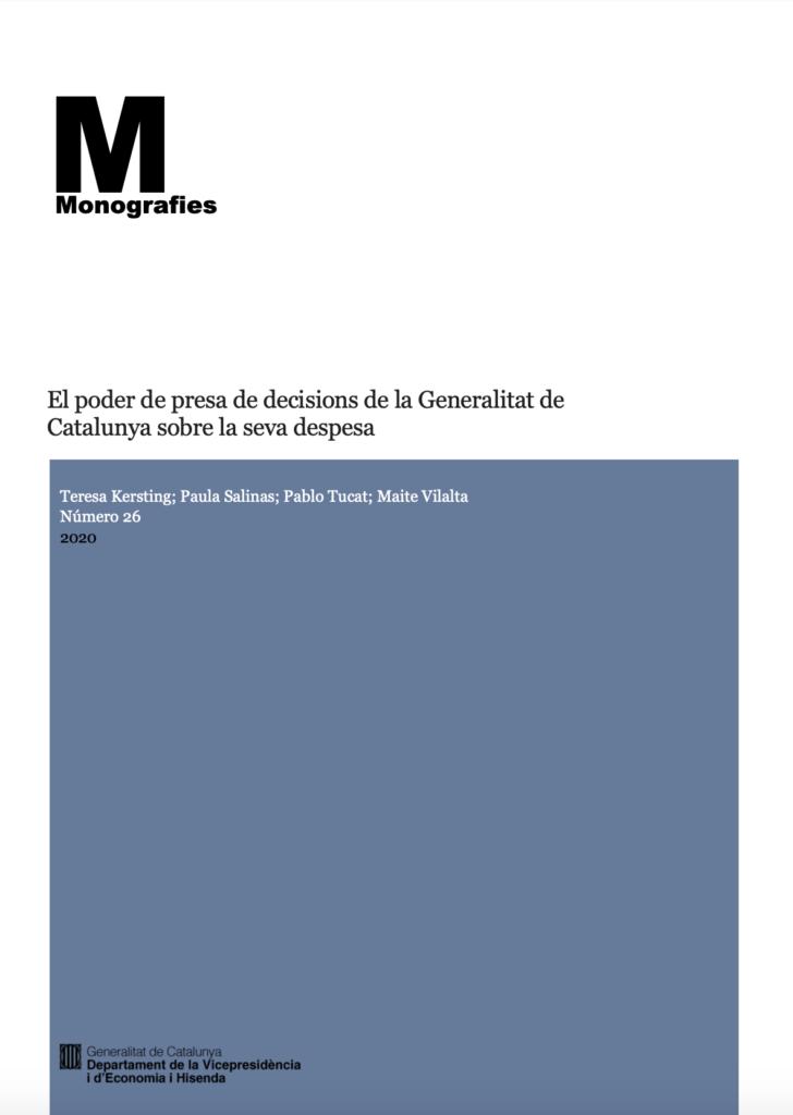 El poder de toma de decisiones de la Generalitat de Catalunya sobre su gasto