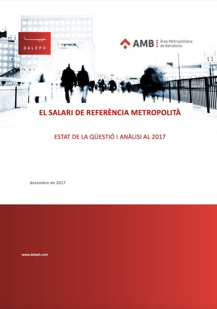 El salario de referencia metropolitano de Barcelona 2017