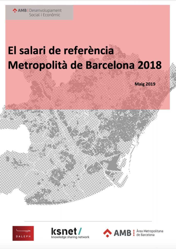 El salario de referencia metropolitano de Barcelona 2018