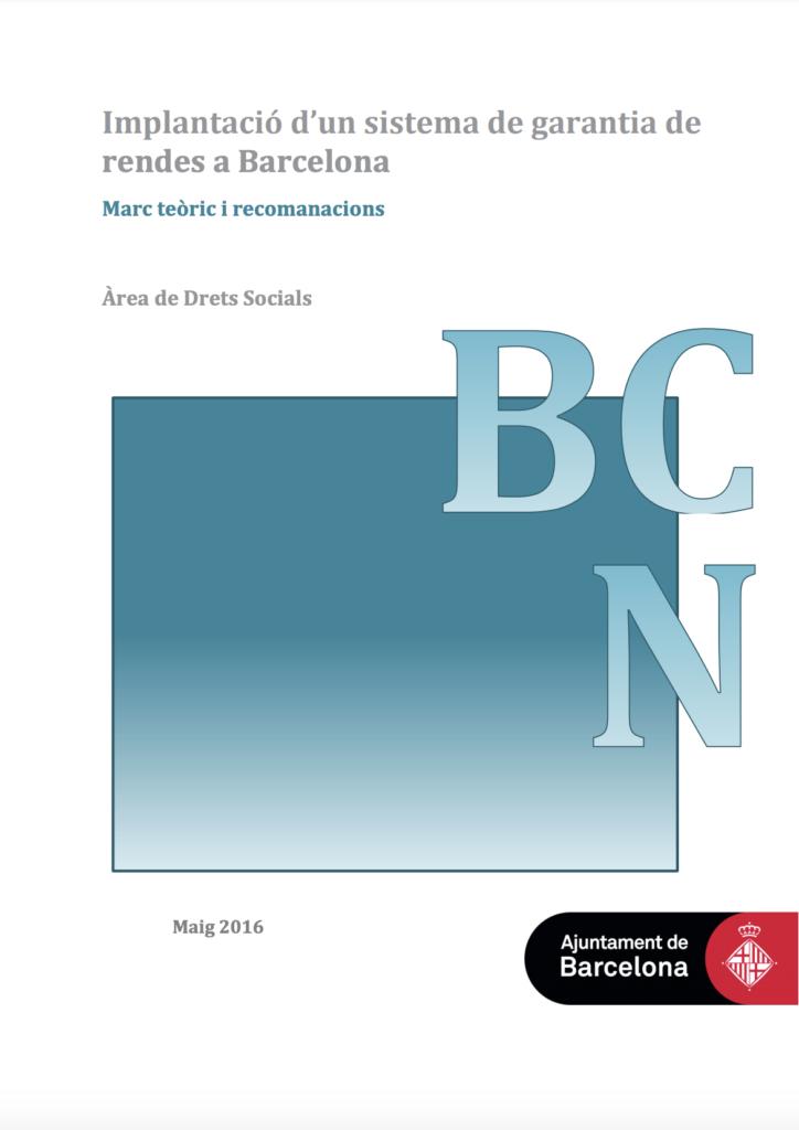 Implantación de un sistema de garantía de rentas en Barcelona