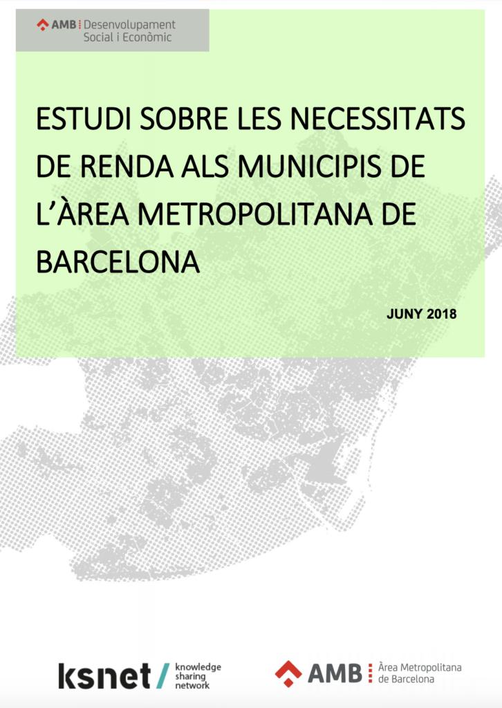 Las necesidades de renta municipales del área metropolitana de Barcelona